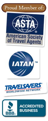 Proud Member of ASTA, IATAN, BBB, TravelSavers